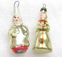 2 Alten Antiker Russen Christbaumschmuck Glas Weihnachtsschmuck Girls Ornaments