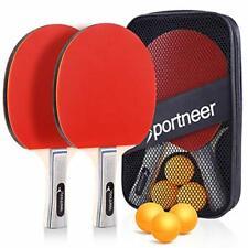 Ping Pong Paddle Set  Portable Table Tennis Rackets & Balls  Table Tennis Set