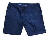 Livergy Herren Jeans Bermuda Shorts Kurze Hose Gr.66 Dunkle Waschung Gummizug