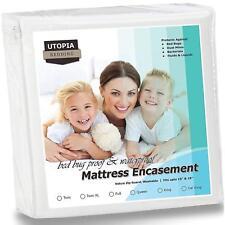 Utopia Bedding Zippered Mattress Encasement - Bed Bug Proof, Dust Mite Proof