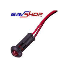 Flashing red 12V LED with 1.5m Lead. Ideal for car, van, truck, bike security.