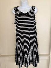 Studio M Striped Sleeveless Dress Size M