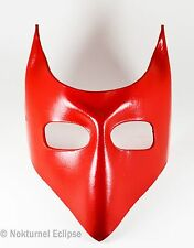 Red Devil Leather Mask Lock Nightmare Before Christmas Halloween Cosplay Unisex