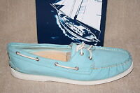 WOMENS SPERRY A/O 2-EYE TWILL BLUE RAD BOAT SHOES US SIZE 12 M i16 a