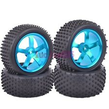 RC 1:10 Off-Road Car Buggy Front & Rear Metal Wheel Rim &Rubber Tyre Tires M05B9