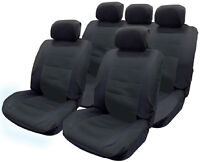 Full Set of Black Mesh Fabric Interior Styling Protection Car Seat Covers - NEW!