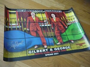 GILBERT & GEORGE - NEW NORMAL PICTURES - HAND SIGNED POSTERS - WHITE CUBE 2021