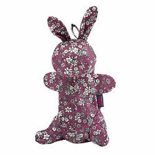 Totes Compact Round Umbrella in Bunny Case - Raspberry Ditsy Floral