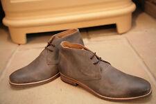 John Varvatos Brown Brushed Leather Boots Shoes UK 8.5