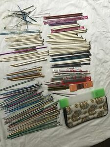 Estate Huge lot of Knitting Needles And Notions some new,some used plus needles