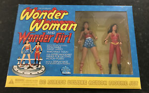 Wonder Woman and Wonder Girl DC Direct Silver Age Deluxe Set NIB - 2001