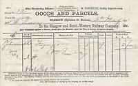 The Glasgow and South-Western Railway Company Goods+Parcels 1881 Invoice Rf42578