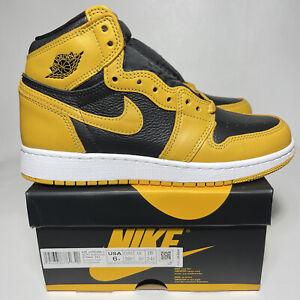 Nike Air Jordan 1 Retro High OG Pollen Women's Size 7.5 (GS 6Y) Black 575441-701