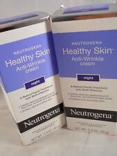 Neutrogena Healthy Skin Anti-Wrinkle Cream Night 1.4 oz each (2pks) fresh & new