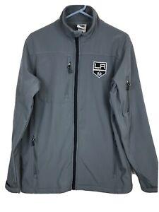 Los Angeles NHL Hockey LA Kings Lightweight Men's MEDIUM Gray Windbreaker Jacket