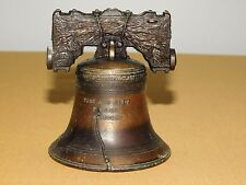 "Vintage 3 1/2"" High Souvenir Metal Liberty Bell"