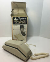 Vintage 80s cobra standard telephone Model st-201 Rare With Box Desk Or Wall