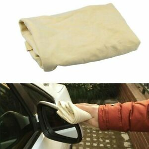2x Imitation Chamois Leather Car Washing Cleaning Quick Absorbent Dry Towel Pack