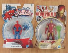 Marvel Ultimate Spider-Man & Iron Man 3 X2 Figures Civil War Comics Hasbro