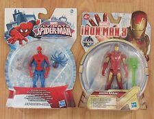 Marvel Ultimate Spider-Man & Iron Man 3 X2 Figures Civil War Comics Hasbro