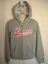 PUMA Gray Zippered Hoodie Jacket Pink Puma S 6 8 NWT Youth Girls (MSRP $44)