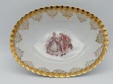 Französische Porzellan Schale LES Porcelaine mit Vergoldung und Barock Motiv