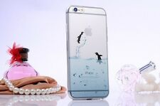 iPhone 6/6s (4'7) Dibujos carcasa gel  transparente Azul Animales Pinguino