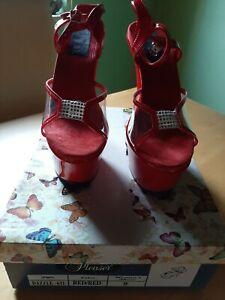 Pleaser USA Dazzle 631 Red Gr. 9 High Heels