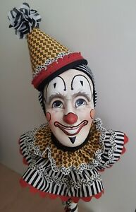 Otto Popoff The Daredevil Clown Wooden Figure