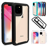 For iPhone 11 Pro Max 2019 Rugged Armor Case Hybrid Clear Shockproof Cover