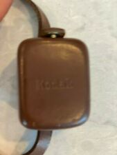 VINTAGE KODAK KODALUX L MINIATURE LIGHT METER WITH LEATHER & STRAP CASE WORKING