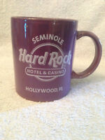 Hard Rock hotel  casino Seminole Hollywood FL coffee mug cup Purple  Ceramic