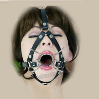 Metal Spider Open Mouth 40mm Diameter Entrance Gag Dungeon Head Hood Device