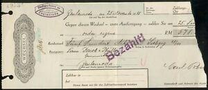 Wechsel Sparkasse der Stadt-Zeulenroda Thür. über RM 578,15 25. Nov. 1938, III