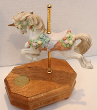 Westland Carousel Horse CollectionLimited Edition Music Box Blue Danube Waltz