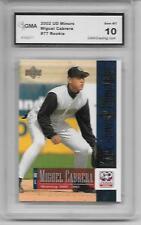 2002 Upper Deck Minors #77 Miguel Cabrera Rookie Card MVP Graded GMA 10 Gem mint