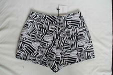 Machine Washable Geometric High Waist Shorts for Women