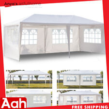 3 x 6m Four Sides Waterproof Tent Wedding Party Tent w/ Spiral Tubes White