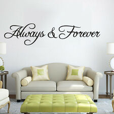 Hot Wall Decals Stickers ALWAY FOREVE Wall Sticker Bedroom Wall Art Home Decor