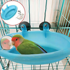 Mini Plastic Bird Cage Bath Basin With Mirror For Pets Bird Parrot Bathtub A4 UK
