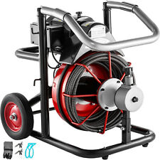 New Listing100ft Electric Sewer Snake Drain Auger Cleaner Cleaning Machine Withcuttersgloves