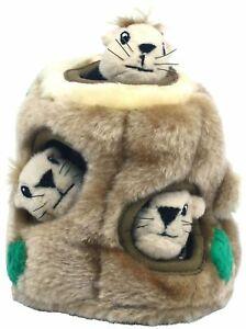 Outward Hound Hide-a-Squirrel Interactive Plush Dog Toy -Junior