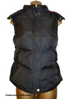 Ladies BLACK Quilted, Padded & Hooded Warm, Snug Gilet Bodywarmer 8 10 12 14 16