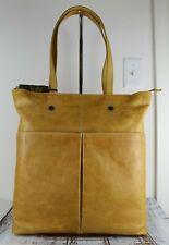 Frye Melissa Simple Italian Leather Zip Tote Bag Sunflower