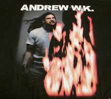 ANDREW WK VINTAGE NEW TEE T-SHIRT HEAVY METAL  XL