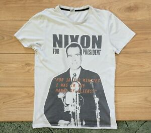 Nixon for President 18 1/2 minutes Gap, Watergate Tapes  Rare T-Shirt, Size M