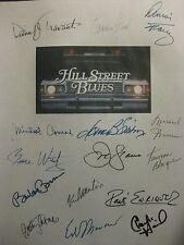 Hill Street Blues Signed Script Daniel J Travanti Veronica Hamel Dennis Franz rp