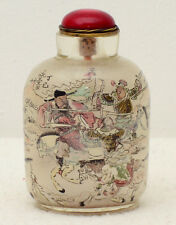 Signed old Chinese Republic period internally painted glass snuff bottle