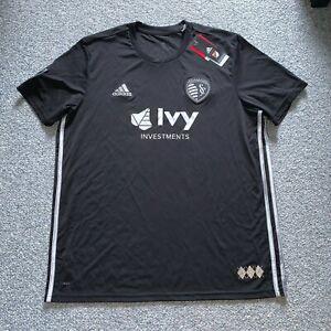 adidas Sporting Kansas City Mens Away Soccer Jersey Shirt Size XL - $85