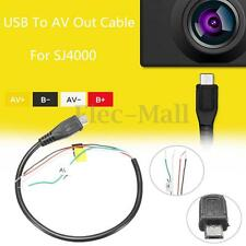 1Pcs USB To AV Out Cable Wire For SJ4000 Sport Action Camera For FPV Black